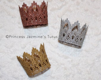 Lace crown . Lace color crown . Birthday crown . Photo props . Cake topper crown