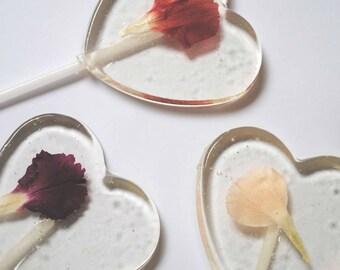 Set of 10 Edible Flower Lollipops