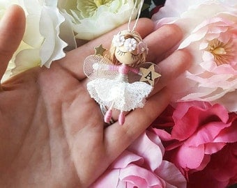 Tiny personalised fairy doll