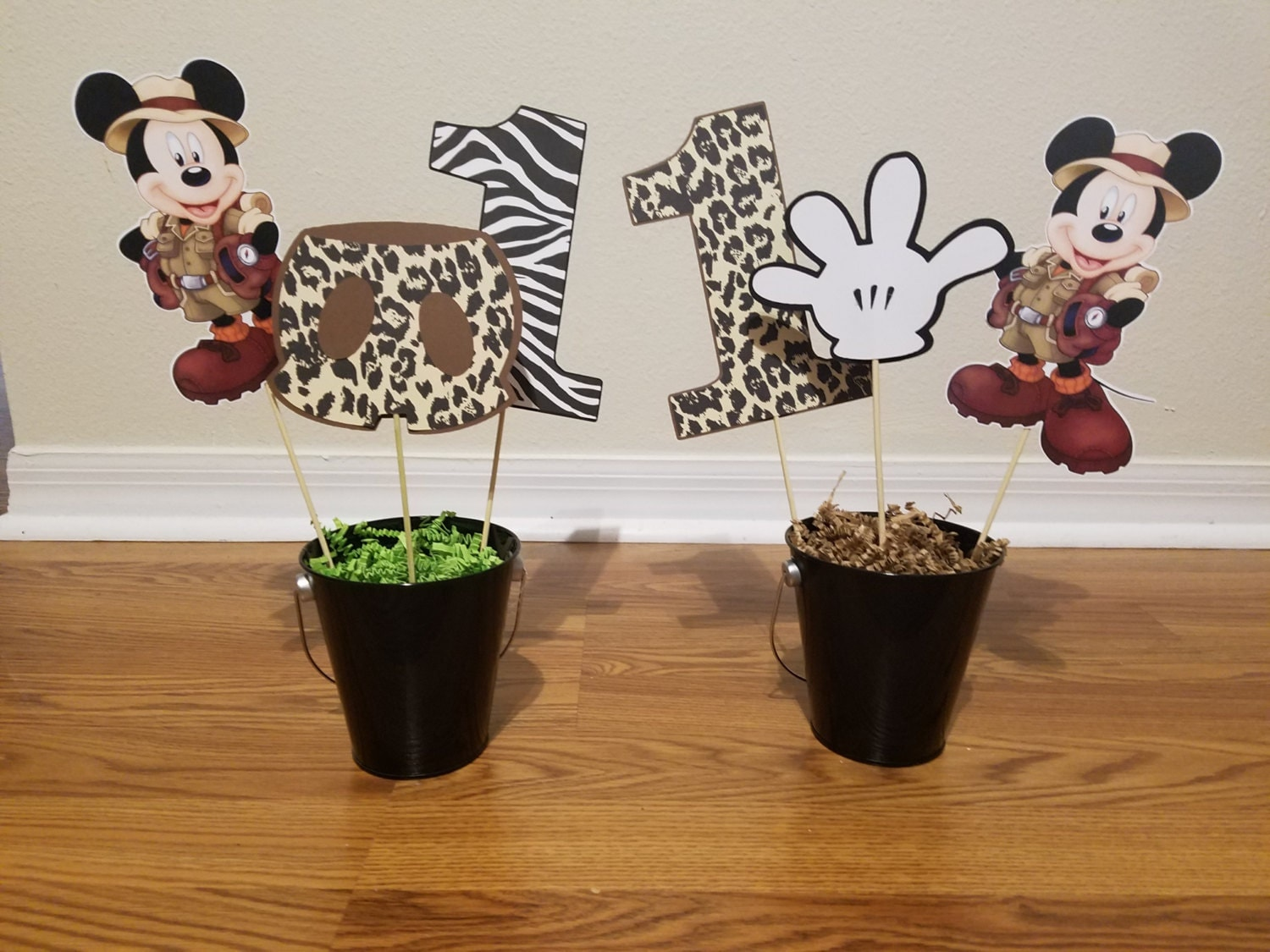Mickey Mouse Safari Centerpieces set of 3 Cutout