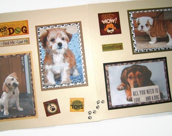 Premade Dog Pages - Dog Scrapbook Pages - Puppy Scrapbook Pages - Premade Puppy Pages - Dog Scrapbooking -  Puppy Scrapbooking - Pet Pages