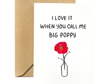 Plant Pun Greeting Card | Big Poppy