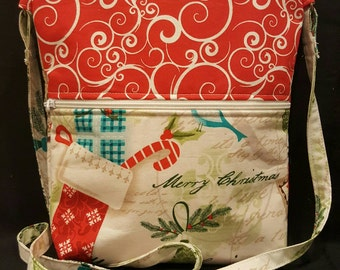 Handmade Christmas themed mini purse