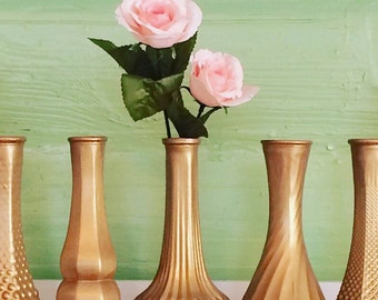 Gold Vase, Gold Decor, Gold Bud Vases, Gold Home Decor, Gold Wedding, Gold Centerpiece, Gold Baby Shower, Home Decor, Gold Vases