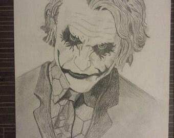 Drawing of Heath Ledger as Joker