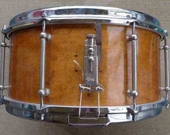 "Vintage Snare Drum, Early 1940s Leedy Reliance, 6.5 x 14"", Leedy Snare Drum."