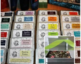 Literary Teas - Authors Gift - Pocket Gift - Tea Gift - Tea - Bookish Gift - Novelette Gift - Literary Gift
