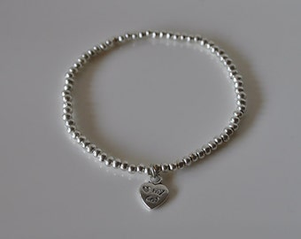 """Bracelet heart """"love my cat"""""""