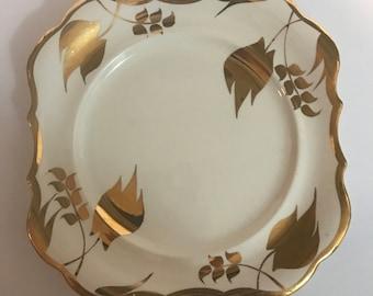 Sandland Ware Silver Luster 9 Inch Square Plate made by Lancaster & Sandland Ltd, in Hanley Staffordshire, England