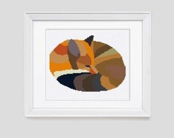 Cross Stitch Pattern Fox, fox cross stitch pattern, modern fox cross stitch pattern, fox pdf pattern
