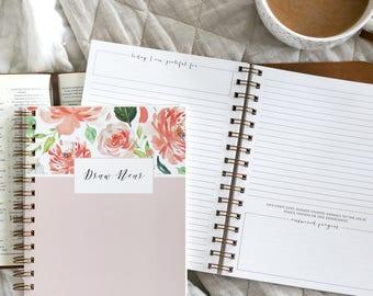 Prayer Journal / Draw Near Prayer Journal / Floral Prayer Journal / Prayer Requests / Floral Bible Journal / Prayer Request Journal