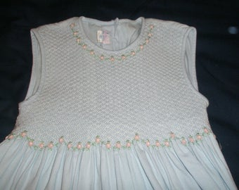 Smocked Girl Dress Size 10