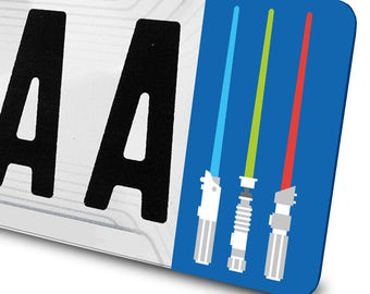 Sticker Star Wars Lightsabers for license plates