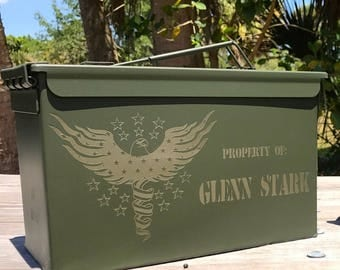 Boyfriend Gift, Valentines Gift for Him, Ammo Can, Gift For Dad, Soldier Gift, Gift For Veterans, Personalized Gift, Gift Box, Hunters Gift