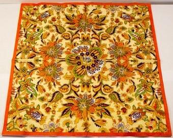 Decoupage napkin Paper napkins floral flowers orange flower scrapbooking paper craft decoupage napkins paper napkin