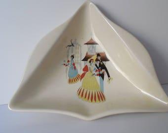 """Vintage Beswick ceramic Pin Tray. Pin Dish. 1950s Beswick """"Happy Morn"""" Pin Tray"""