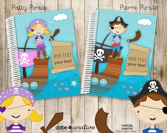 My Fancypants Notebook: Pirate collection (Handmade personalised notebook)