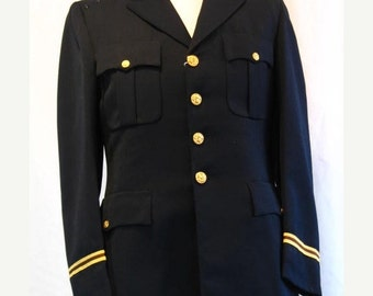 On Sale Vintage 1960's US Army Officers Blue Service Coat
