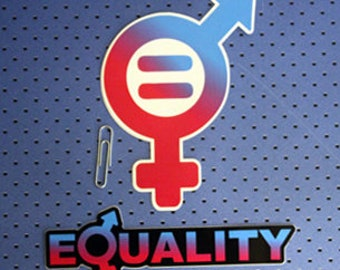 Gender Equality bumper stickers combo