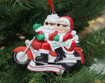 Personalised Christmas decoration, biker couple decoration, family decoration, biker couple, personalised decoration,motorbike fan,christmas