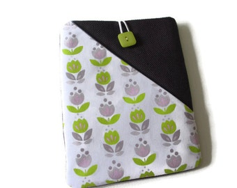 """Cute floral case for 6"""" tablets, Kobo Aura pouch, Kobo wallet, Kobo touch case, Kobo glow cover, purple Kindle voyage, Kindle touch cover"""