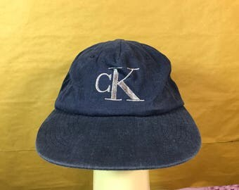 Vintage CALVIN KLEIN Jeans Cap Snapback Made In Usa