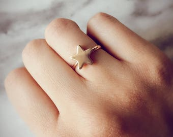 Star and heart ring