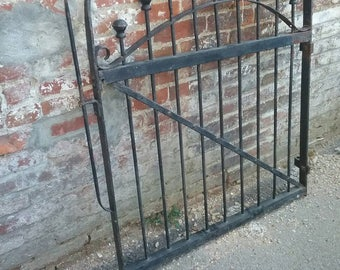 Simple but elegant hand forged garden gate, from 1800s.