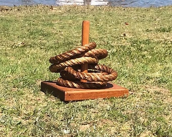 ROPE QUOIT GAME traditional backyard game Australian hardwood