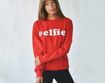 Elfie' Christmas Unisex Jumper Sweatshirt -Christmas Sweatshirt - Christmas Clothing - Women's Christmas - Christmas Sweater [SWTUNI-XM-006]