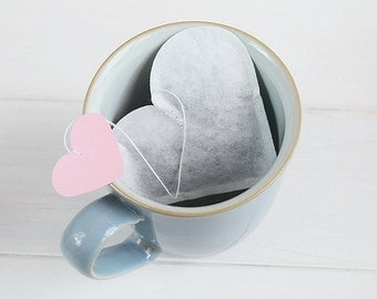 Heart Shaped Artisan Tea Bags, Valentine's Day Gift, Novelty Gifts, Unique Valentine's Gift, Small Gift, Tea Bags