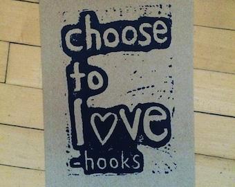 choose to love print- bell hooks