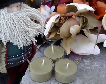 Bayberry Wax Tea Light Yule Candles Christmas