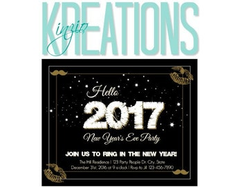 New years eve party invite - Sparkly new years eve invite - #2