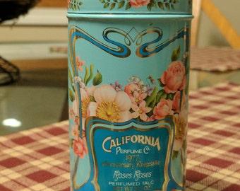 Avon 1977 Anniversary Keepsake Roses Roses Perfumed Talc