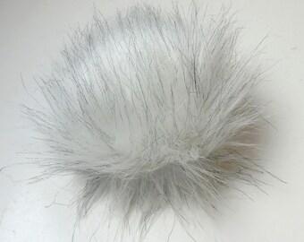 Size S faux fur pom pom 4- 4.5 inches 11 cm