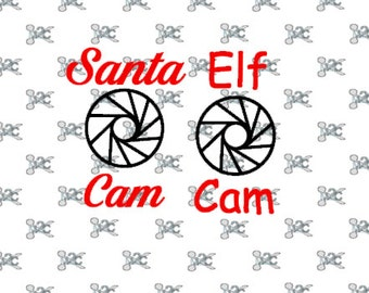 Santa Cam Svg File, Elf Cam Svg Design