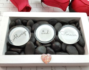 Always and Forever - Valentines Day Gift for her - Unique Valentines Gift - Zen Garden - Valentines Day Heart Decor - Wife Valentines Gift