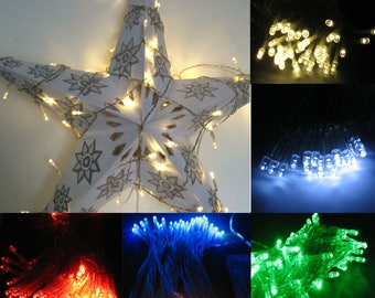 Fairy lights for party decorations wedding decorations string lights 10m indoor portable battery 80 LED white red green multicoloured