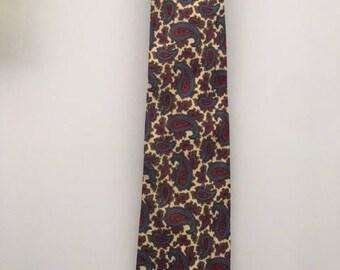 Vintage Hodges Silk Paisley Tie