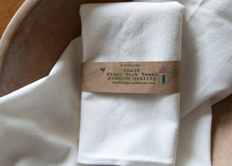 Flour Sack Towel Plain White Flour Sack Blank Tea Towel