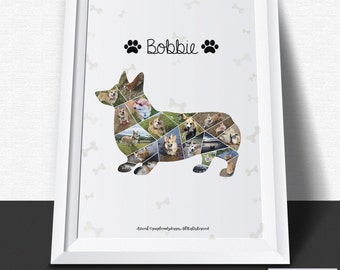 Dog Photo Collage - Personalised Digital Download Print