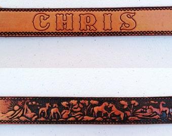 Vintage Men's Western Belt
