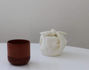 Tea - coffee cup ceramic Red Earth