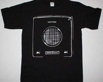 Kraftwerk Radio Activity75 Electronic Kraut Rock S-XXL NEW Black T-Shirt
