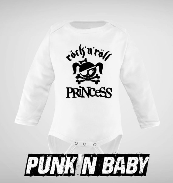 Rock n Roll Princess onesie Punk Baby Clothes Baby