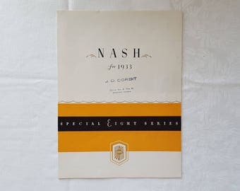 Nash 1933 Special Eight Series Foldout Brochure