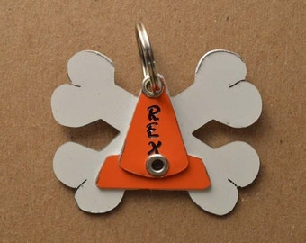 Rally Cone Bones Pet Tag Dog ID Metal Flyball Obedience Training