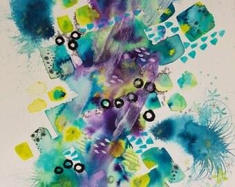 Wonder Sea. Original A2 painting.