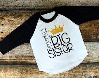 Promoted to Big Sister, Big Sister Shirt, Pregnancy Announcement, Big Sister Announcement, Big Sister Gift